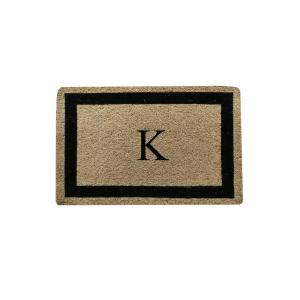 Click here to buy  A1HC Classic Border 24 inch x 36 inch Monogrammed K Coir Door Mat.
