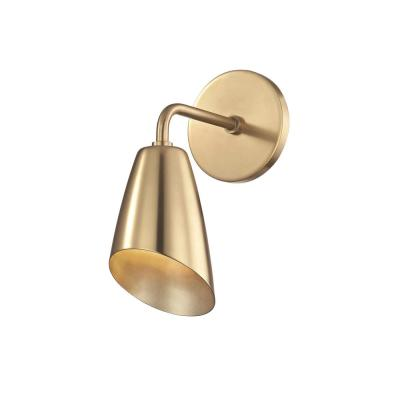 Kai 1-Light Aged Brass LED 10.25 in. H Wall Sconce