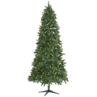 9 ft. Pre-Lit LED Grand Duchess Slim Pine Quick Set Artificial Christmas Tree with Warm White LED Lights