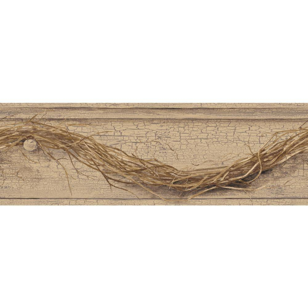 Country Keepsakes Grapevine Twig Wallpaper Border