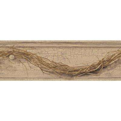 Country Keepsakes Grapevine Twig Wallpaper Border