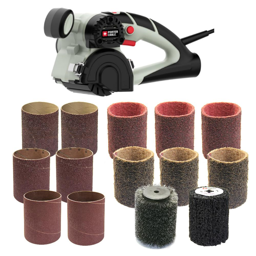 Porter-Cable Restorer 3.5 Amp Corded 3 in. x 4 in. Variable Speed Sander Kit with 14 Accessories