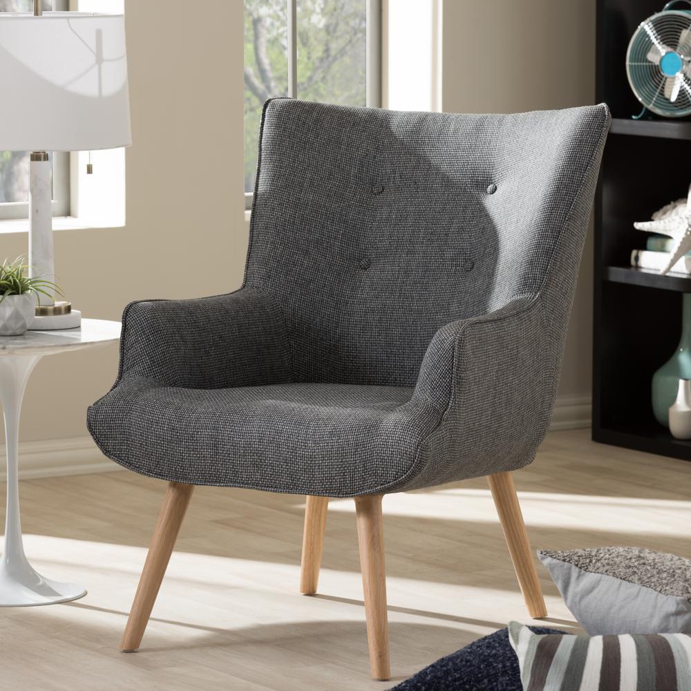 Baxton Studio Vienna Contemporary Beige Fabric Upholstered