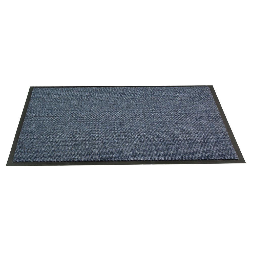 Rectangular Blue 32 in. x 48 in. Indoor Entrance Mat