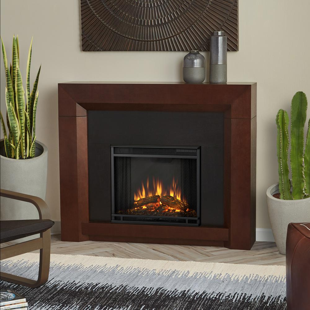 Colton 48 in. Ventless Electric Fireplace in Dark Walnut