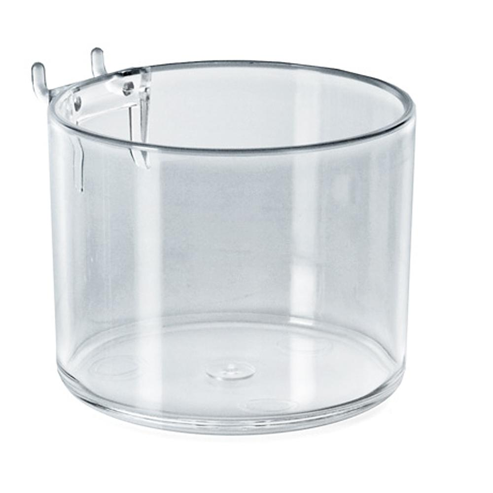 azar displays 4 in diameter clear cup display for pegboard or
