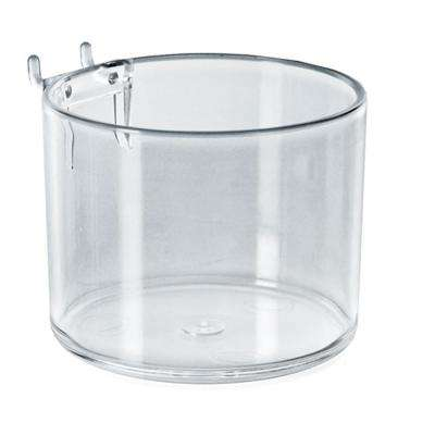 4 in. Diameter Clear Cup Display for Pegboard or Slatwall (10-Pack)