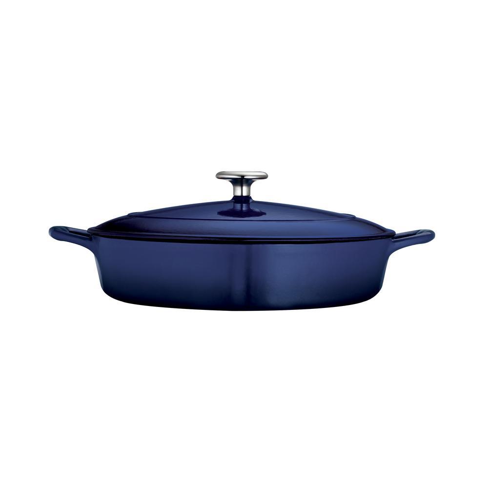 Gourmet 4 Qt. Cast Iron Braising Pan