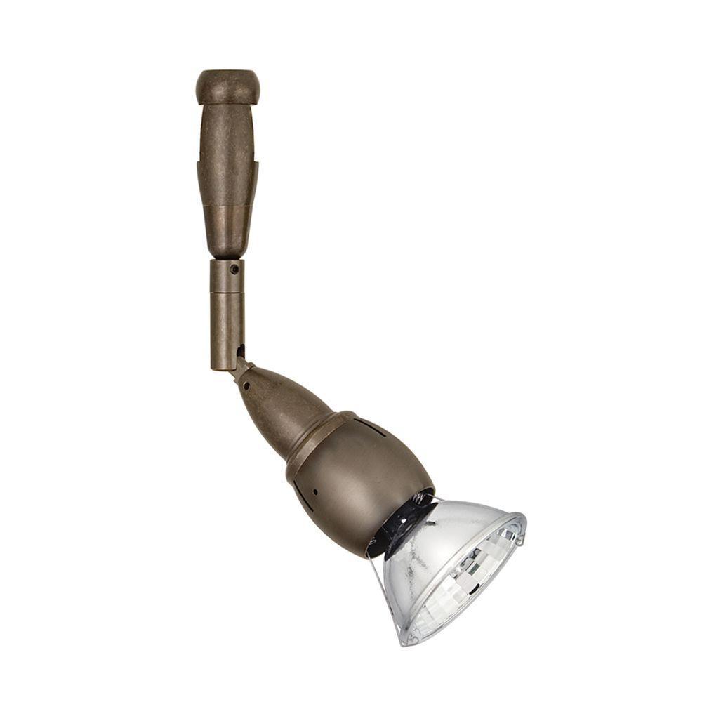 Bare Head Swivel II 1-Light Bronze Track Lighting Lamp Head
