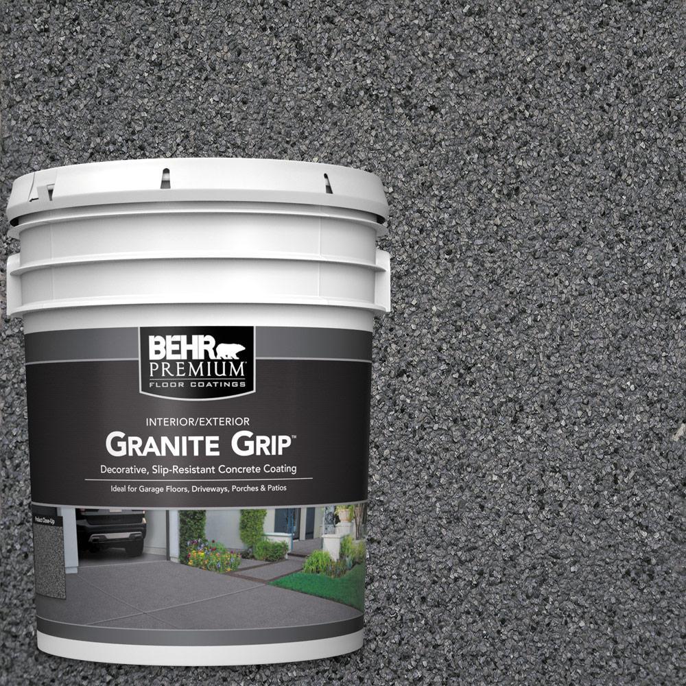 BEHR Premium 5 gal. #GG-17 Mineral Gray Decorative Flat Interior/Exterior Concrete Floor Coating