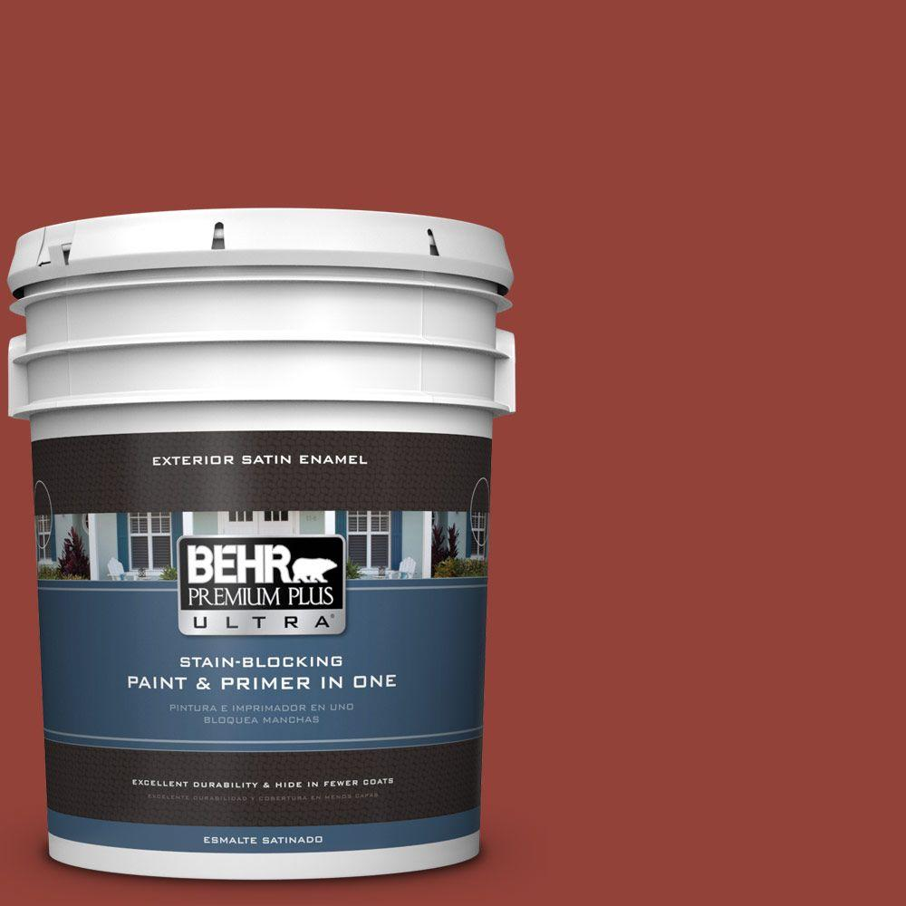 BEHR Premium Plus Ultra 5-gal. #PMD-21 Autumn Maple Satin Enamel Exterior Paint