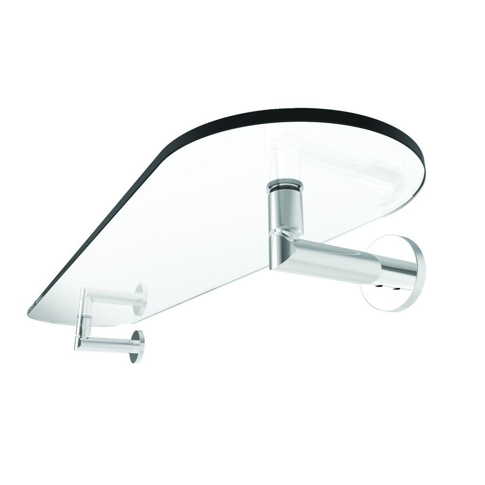 Ginger Sine 24 in. W Tempered Brass Shelf in Polished Chrome