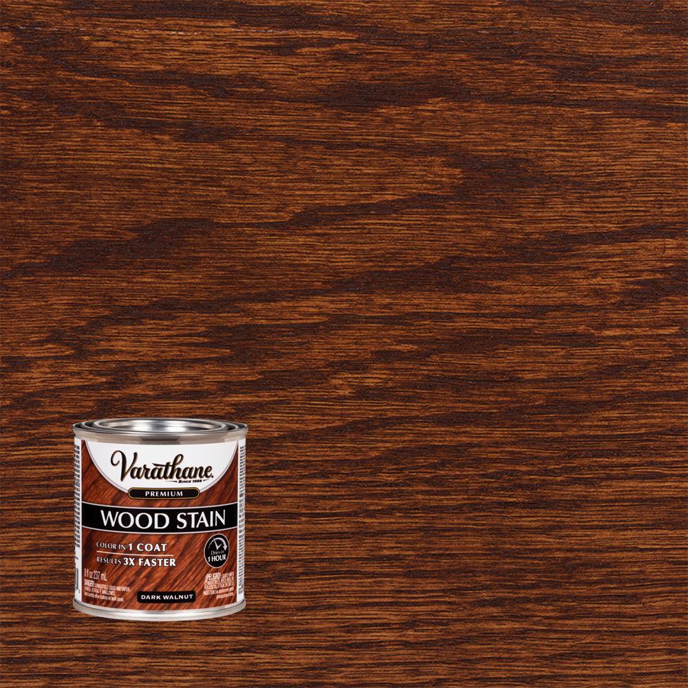 Varathane 8 Oz Dark Walnut Premium Fast Dry Interior Wood Stain 266198 The Home Depot