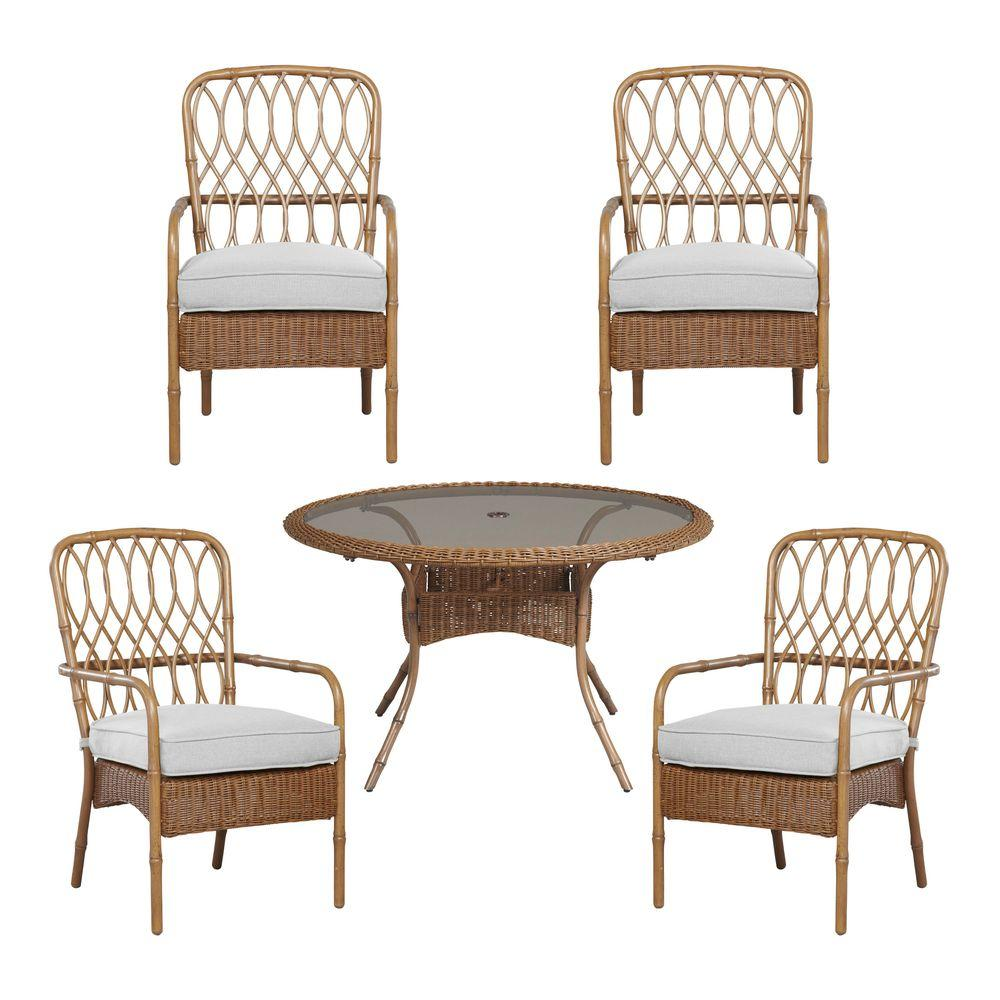 Clairborne 5-Piece Patio Dining Set with Cushion Insert (Slipcovers Sold