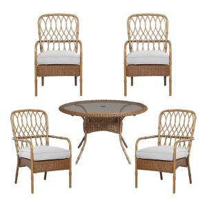 Hampton Bay Clairborne 5-Piece Patio Dining Set with Cushion Insert (Slipcovers Sold Separately) by Hampton Bay