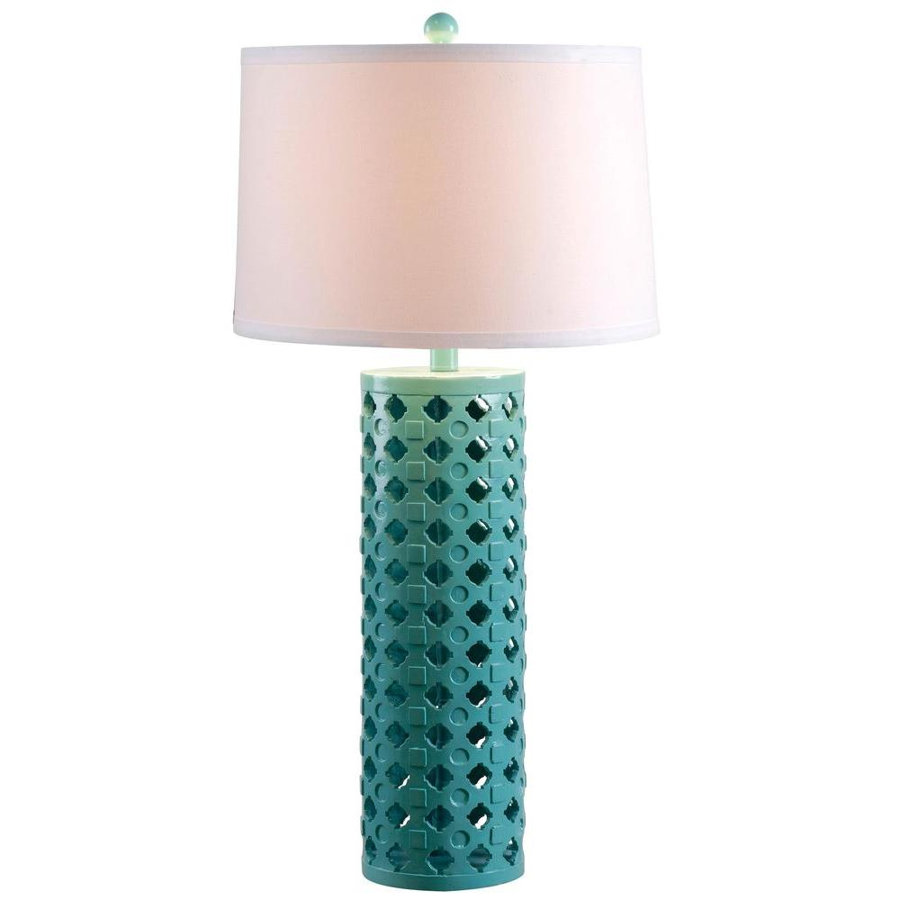 Kenroy home marrakesh 32 in teal table lamp 32272teal the home depot kenroy home marrakesh 32 in teal table lamp mozeypictures Image collections