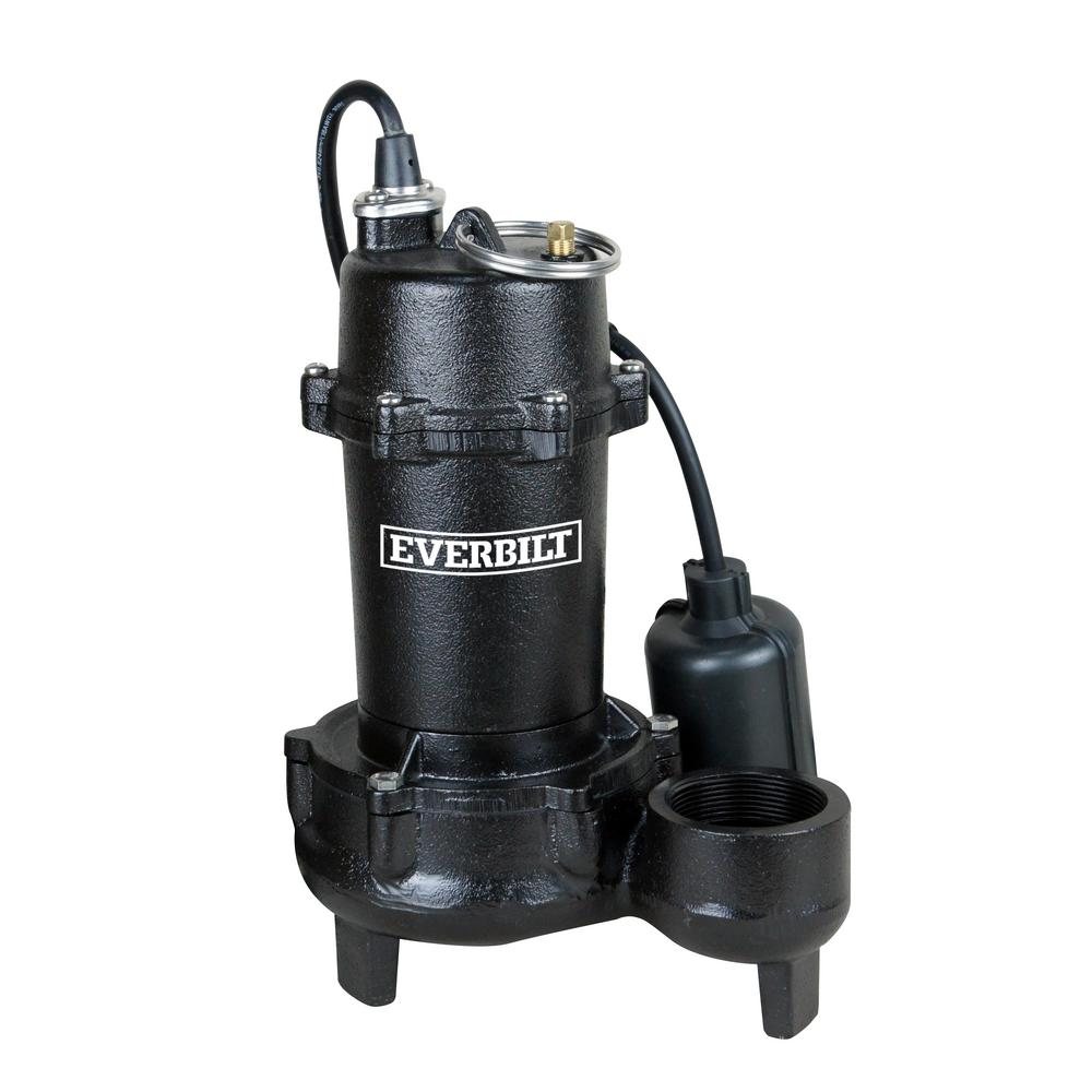Everbilt Everbilt 1/2 HP Submersible Effluent Pump