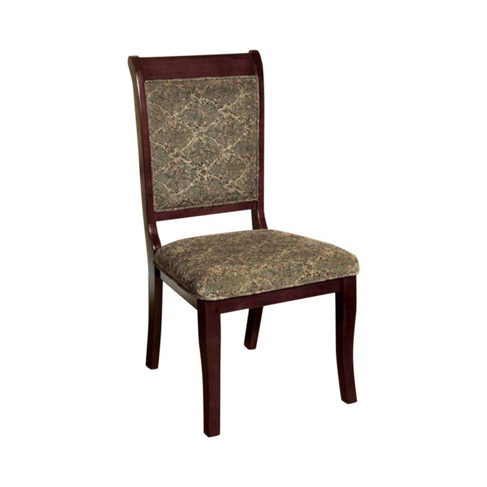 St. Nicholas I Traditional Antique Cherry Wooden Side Chair (Set of 2)