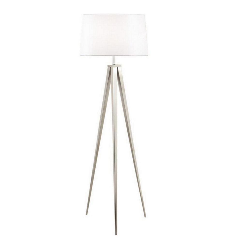 Brushed Nickel Tripod Floor Lamp