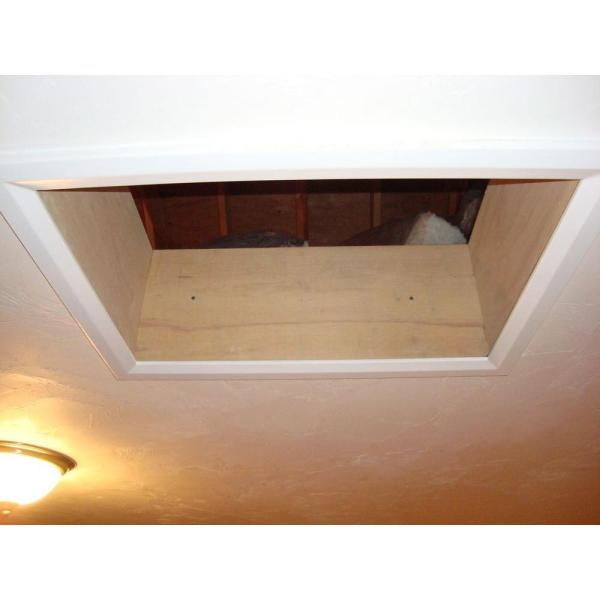 Battic Door Energy Conservation Products 22 In X 30 In R 50 E Z Hatch Attic Access Door 22x30r 50 The Home Depot