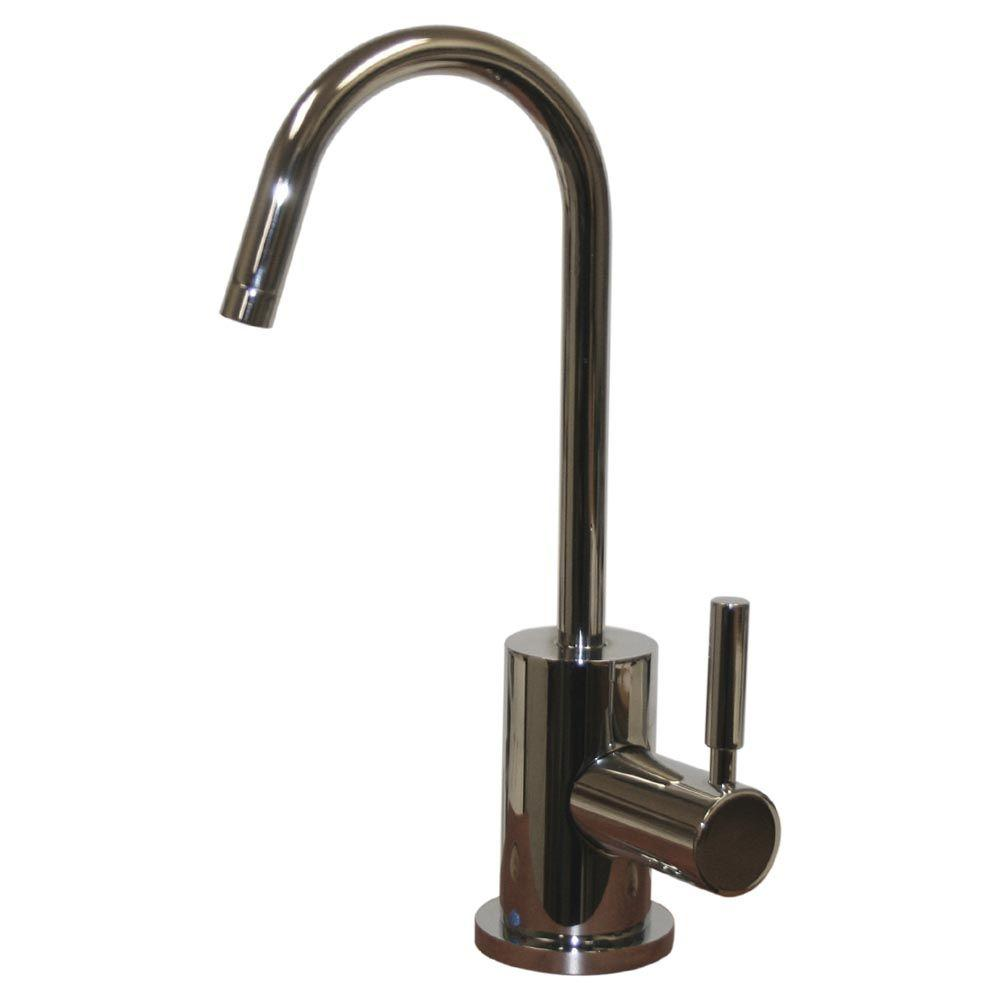 Whitehaus Collection Forever Hot 1-Handle Instant Cold Water Dispenser Faucet in Polished Chrome