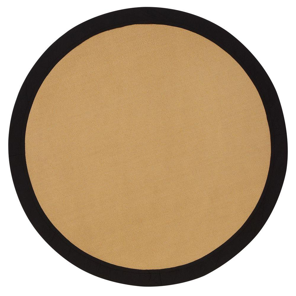 Home Decorators Collection Cove Black Border 6 Ft Round Area Rug