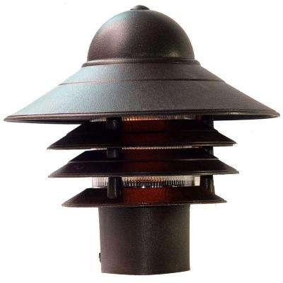 Mariner Architectural Bronze Outdoor Post-Mount Light Fixture