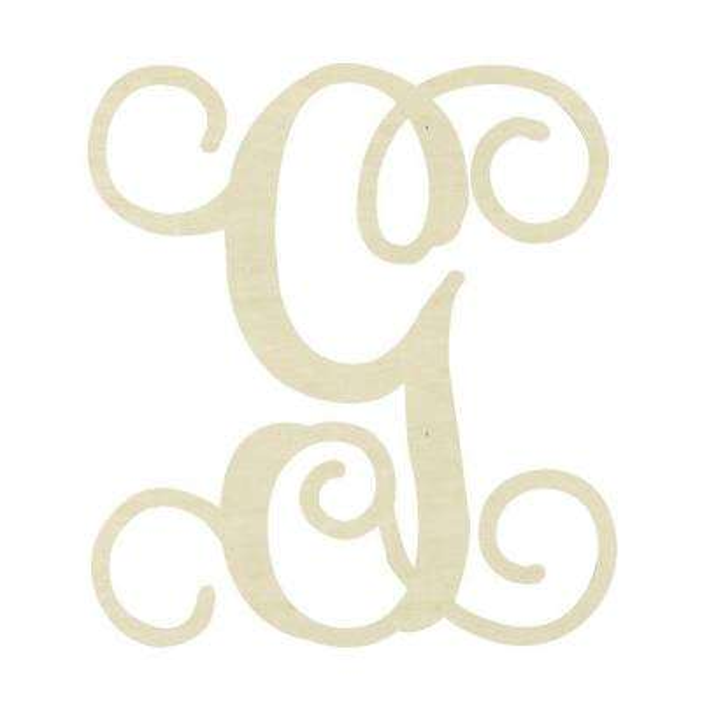 19.5 in. Unfinished Single Vine Monogram (G)