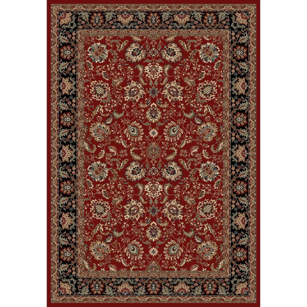 Concord Global Trading Verona Tabriz Red 5 ft. 3 in. x 7 ft. 3 in. Area Rug