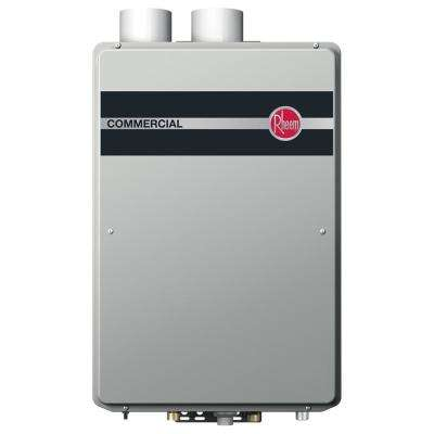 Commercial Natural Gas 9.5 GPM Condensing Indoor Tankless Water Heater
