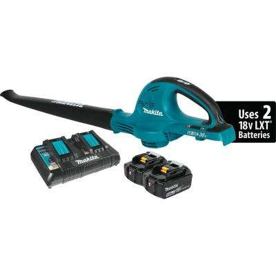 18-Volt X2 (36-Volt) LXT Lithium-Ion Cordless Blower Kit with (2) Batteries 5.0Ah and Charger