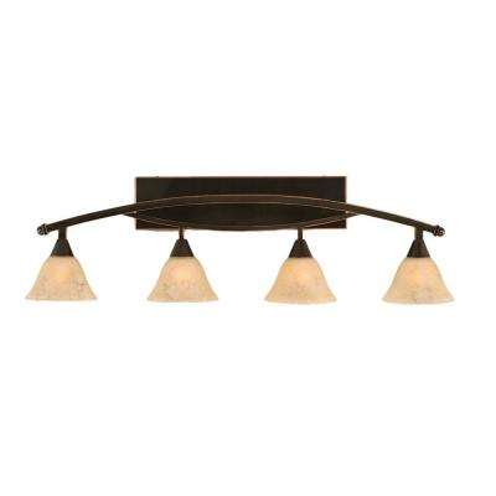 Concord 4-Light Black Copper Bath Vanity Light