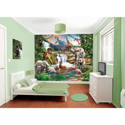 120 in. H x 96 in. W Jungle Adventure Wall Mural