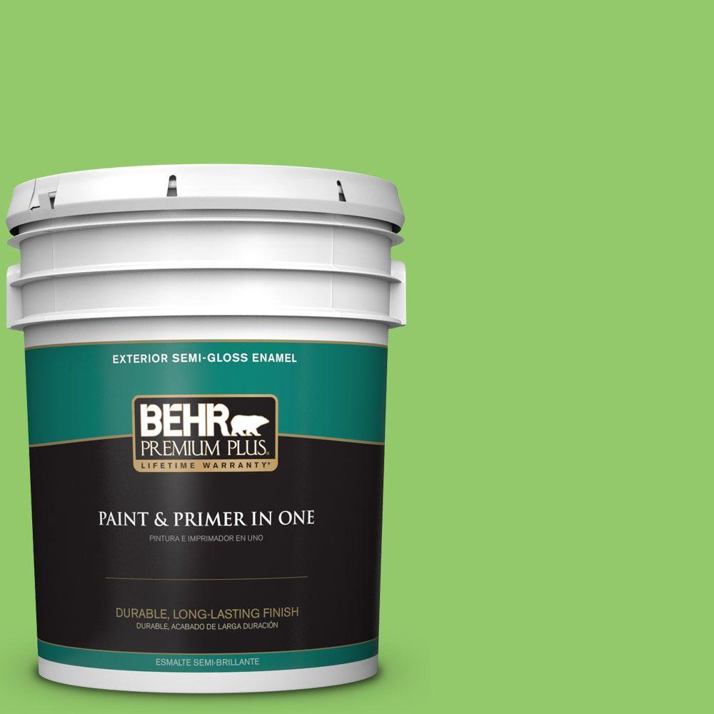 BEHR Premium Plus 5-gal. #430B-5 Apple Orchard Semi-Gloss Enamel Exterior Paint