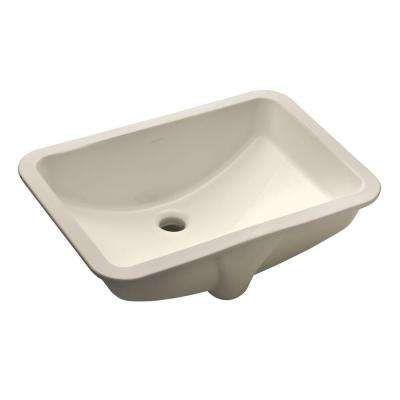 "Ladena 20 7/8"" Undermount Bathroom Sink in Biscuit with Overflow Drain"