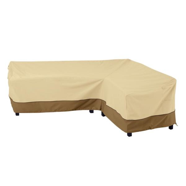 Veranda 106 In. (left side) 85 In. (right side) L x 34 In. W x 31 In. H Right Facing L-Shape Sectional Lounge Set Cover
