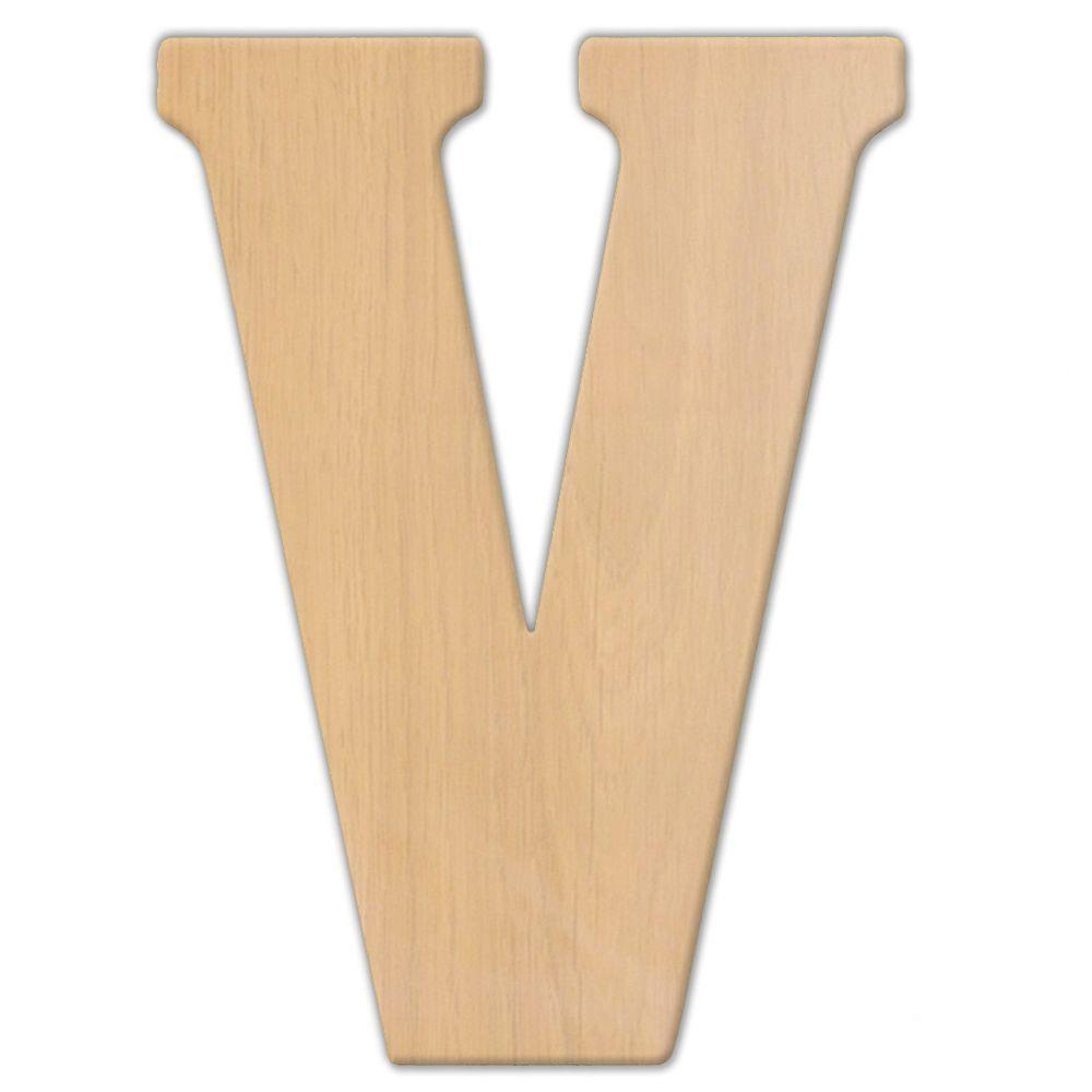 23 in. OversizedUnfinished Wood Letter (V)