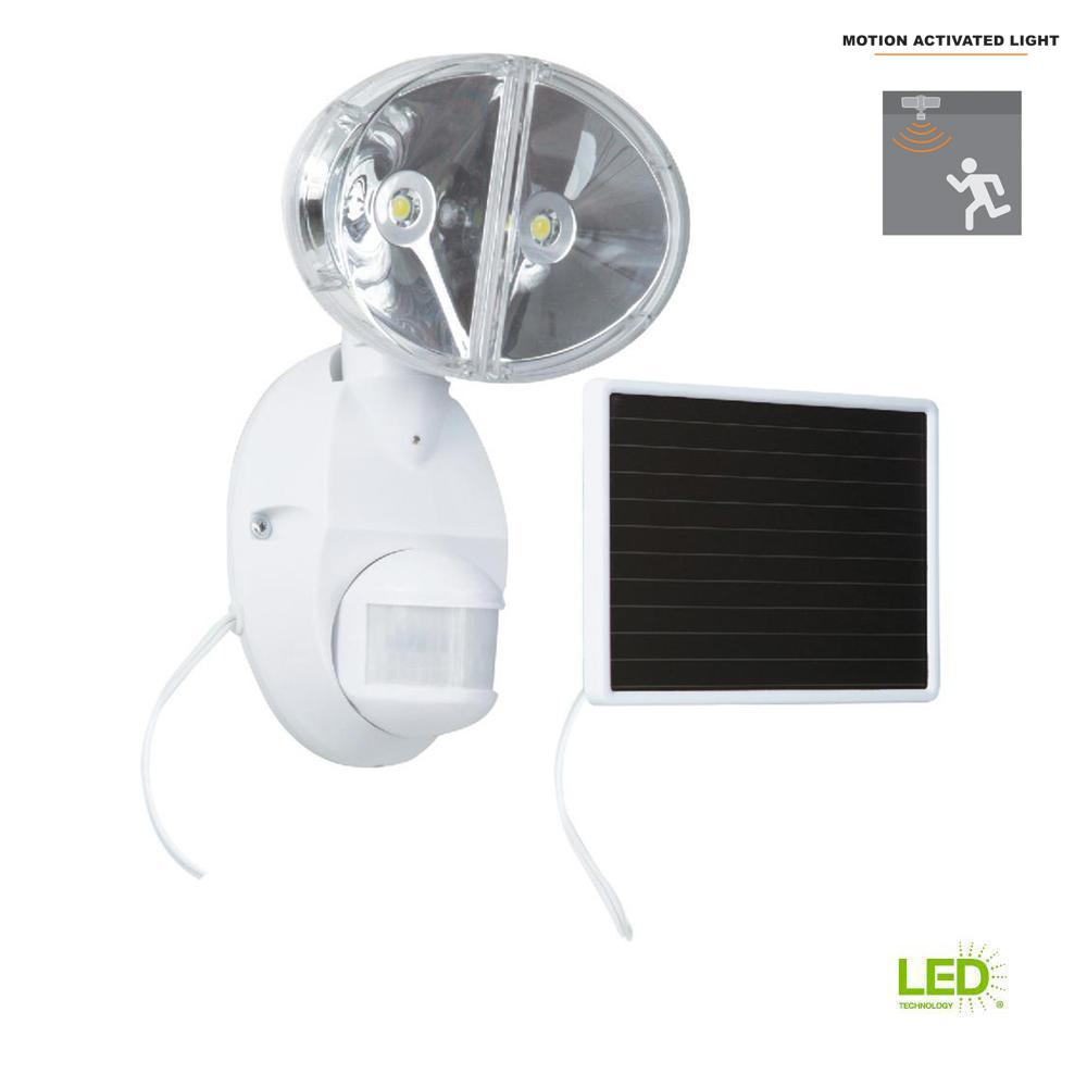 180-Degree White Motion Activated Outdoor Integrated LED
