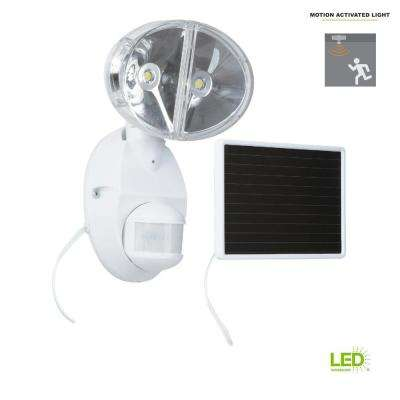 180-Degree White Motion Activated Outdoor Integrated LED Solar Flood Light