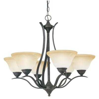 Prestige 6-Light Sable Bronze Chandelier