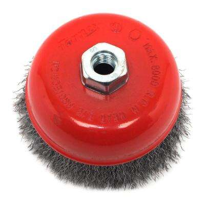 5 in. x 5/8 in.-11 Threaded Arbor Coarse Crimped Wire Cup Brush