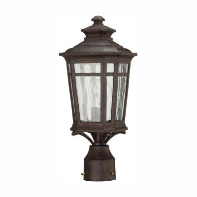 Waterton 1-Light Outdoor Dark Ridge Bronze Post Mount Lantern