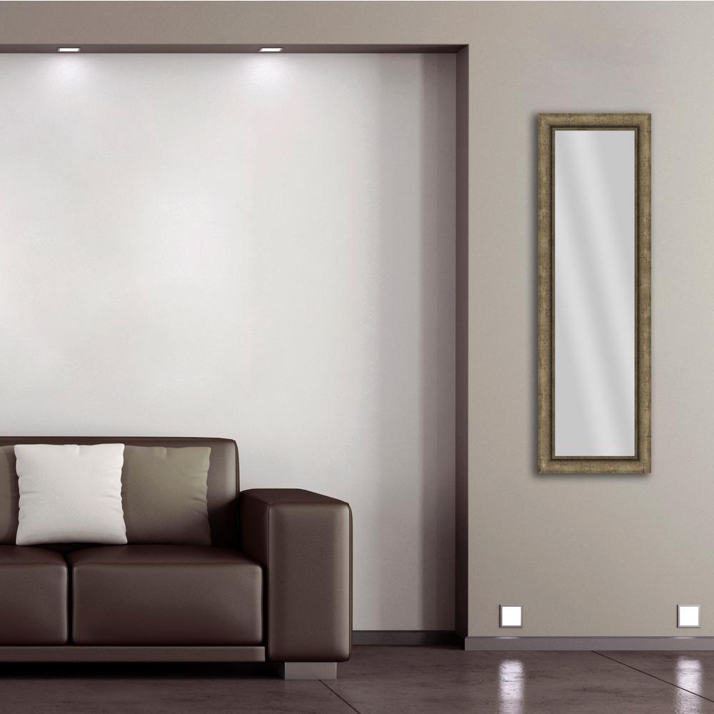 52.5 in. x 16.5 in. Medium Champagne Framed Mirror