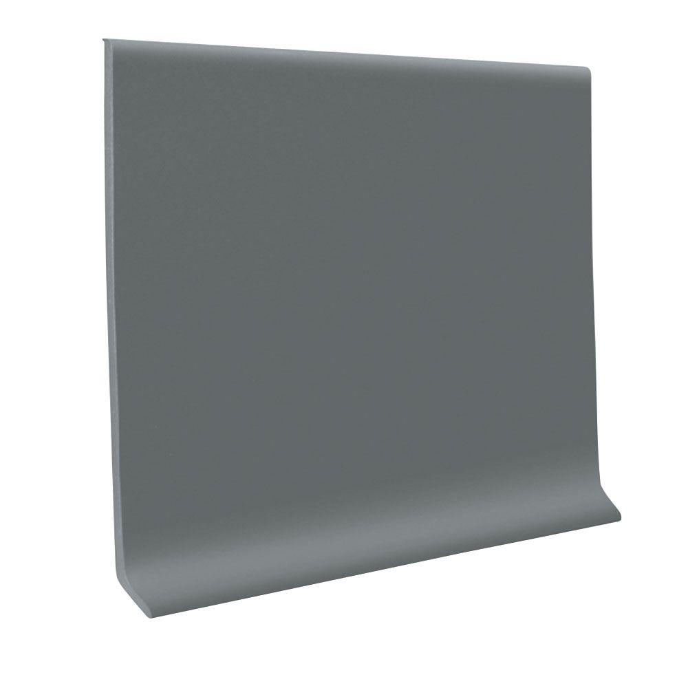 ROPPE Vinyl Laminate Dark Gray 4 in. x 48 in. x 0.080 in. Wall Cove Base (16-Pieces)