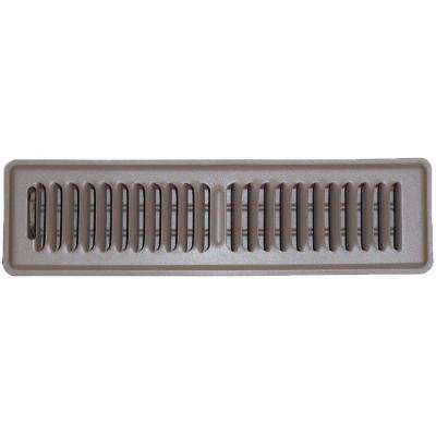 2 in. x 12 in. Floor Vent Register, Brown with 2-Way Deflection
