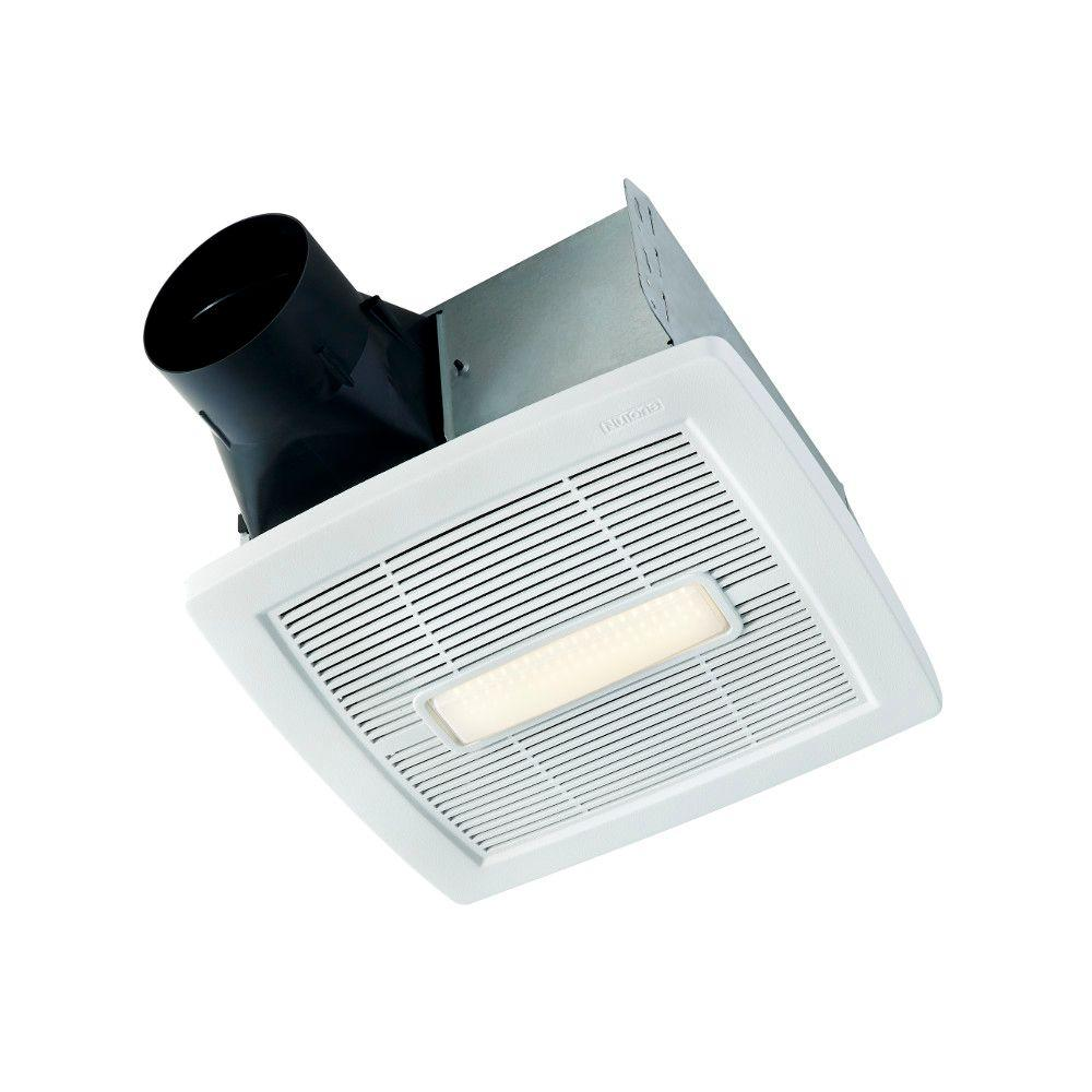 NuTone InVent Series 110 CFM Ceiling Roomside Installation Bathroom Exhaust Fan with Light, ENERGY STAR