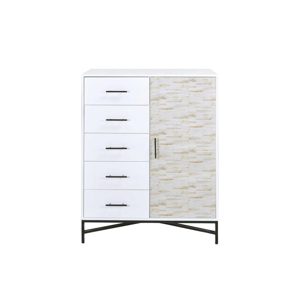 Acme Furniture Uma White and Black Chest 97453
