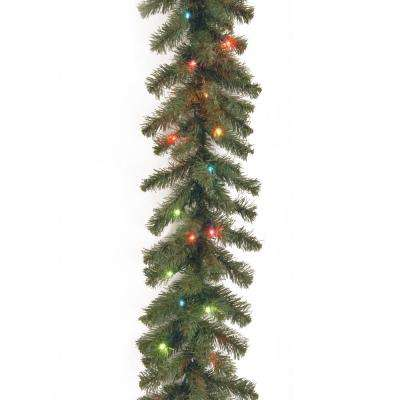 9 ft. Kincaid Spruce Garland with Multicolor Lights
