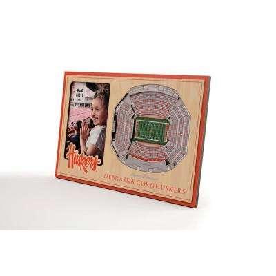 NCAA Nebraska Cornhuskers Team Colored 3D StadiumView with 4 in. x 6 in. Picture Frame