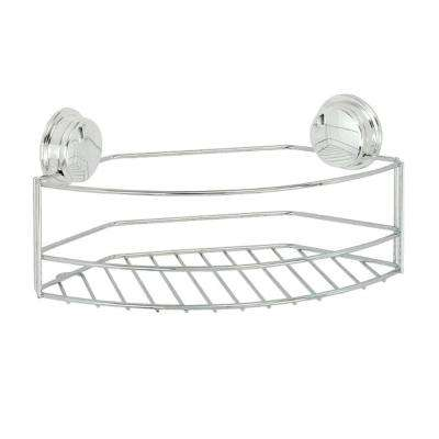 Stick 'N' Lock Plus Large Storage Basket in Chrome
